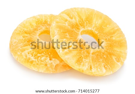candied pineapple path isolated #714015277