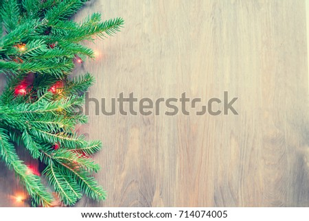 Composition of the Christmas decorations, toning #714074005
