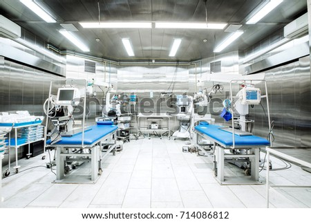 ophthalmology operation room with equipment. medicine concept #714086812