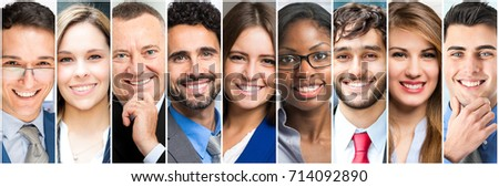 Group of people faces