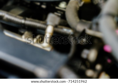 The engine of the car blurred abstract background #714251962