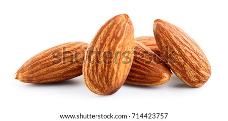 Almond. Almond nut isolated. Almond slice. Full depth of field. #714423757