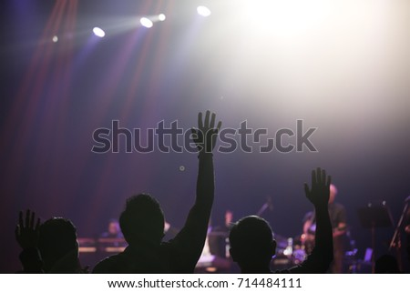 Hand of praise to God and sing song to God #714484111