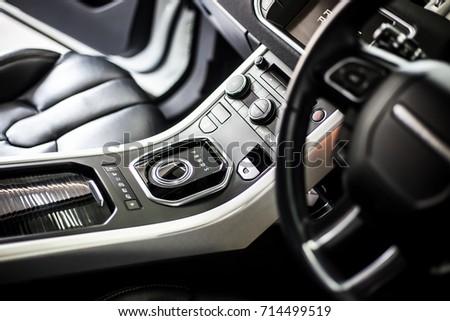 Car inside. Interior of prestige modern car. selective focus. #714499519