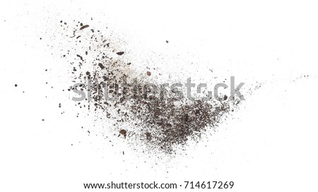 Dust isolated on white background, with clipping path Royalty-Free Stock Photo #714617269