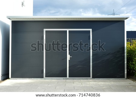 Modern Tool Shed, Bike Shed or Garden Shed with Alloy Profile and Plastic coated Front #714740836