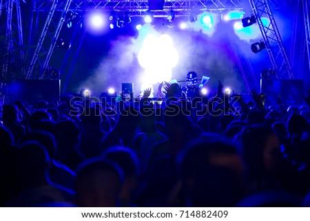 De-focused concert crowd #714882409
