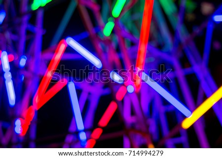 Colorful lamp on ferris wheel at night #714994279