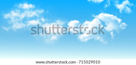 Background with clouds on blue sky. Blue Sky vector Royalty-Free Stock Photo #715029010