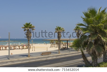 Tel Aviv promenade. ISRAEL #715652014