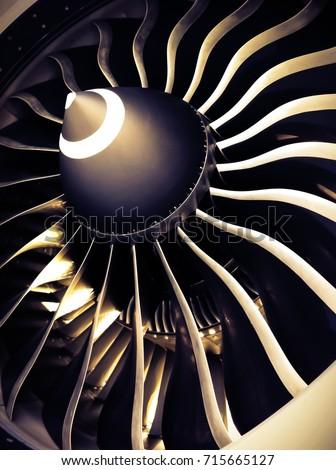 fan blade, turbofan engine #715665127