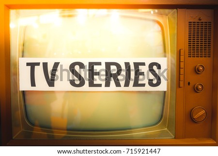 Tv series old tv label vintage #715921447