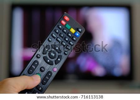 Remote control for satellite receiver box tv hd Thailand. finger push bottom. #716113138