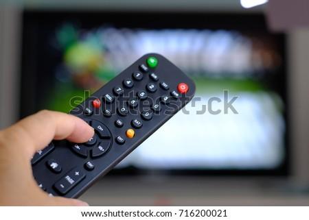 Remote control for satellite receiver box tv hd Thailand. finger push bottom. #716200021