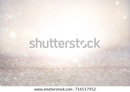 glitter vintage lights background. defocused. #716517952