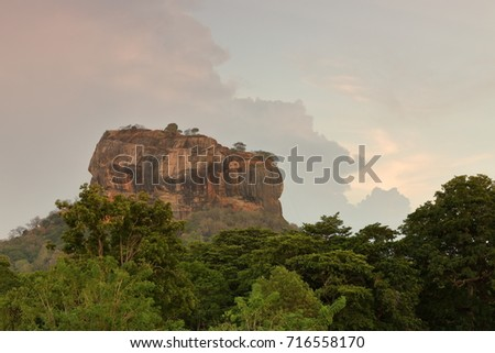 The Lion Rock of Sigiriya in Sri Lanka #716558170