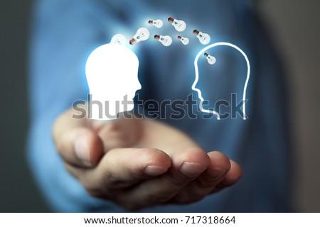 Idea concept. Knowledge transfer #717318664