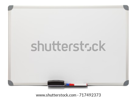Blank White Board Isolated on White Background. #717492373