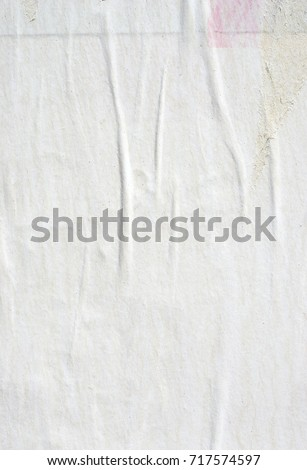 White old paper ripped torn background blank creased crumpled posters grunge textures placard surface backdrop #717574597