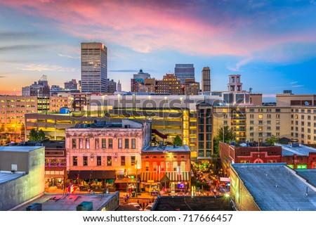 Memphis, Tennessee, USA downtown skyline.