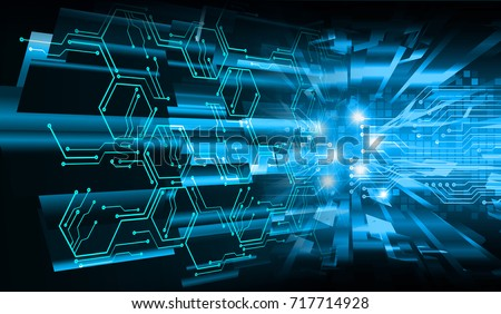 binary circuit future technology, blue cyber security concept background, abstract hi speed digital internet.motion move blur. pixel secure #717714928