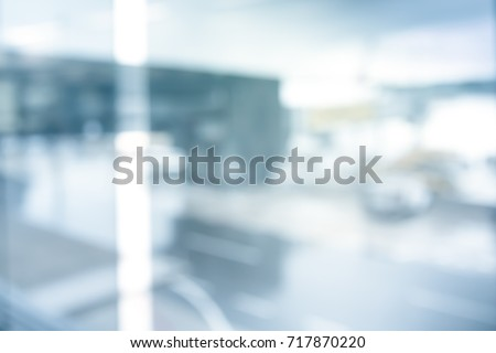 CITY BACKGROUND IN THE WINDOW REFLECTION Royalty-Free Stock Photo #717870220