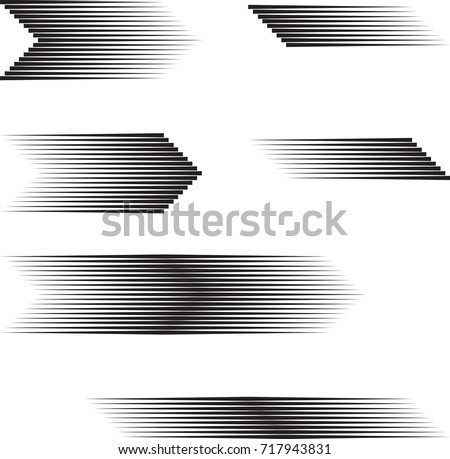 Speed Lines in arrow Form . Vector Illustration .Technology  Logo . Design element . Abstract Geometric shape .  Royalty-Free Stock Photo #717943831