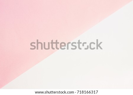 Pastel color minimal background. Pink and white paper sheet pattern