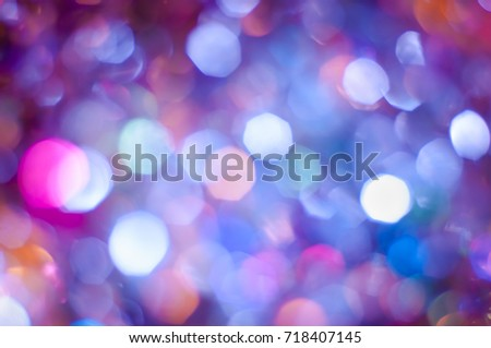 Abstract blurred dark background with bokeh lights #718407145