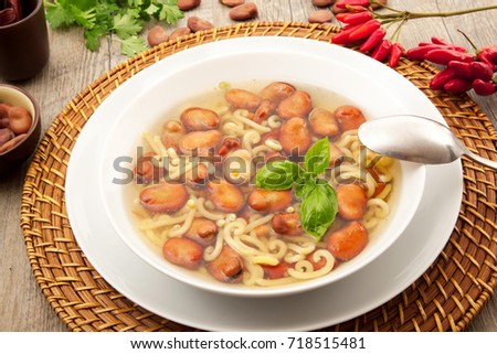 original pasta and beans soup #718515481
