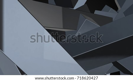 Abstract background with chaotic elements. 3d rendering. #718620427