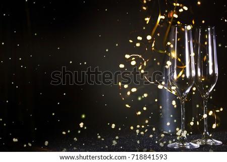 New Years Eve celebration background #718841593
