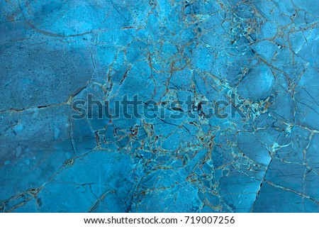 Blue Abstract Marble Background, High Res.