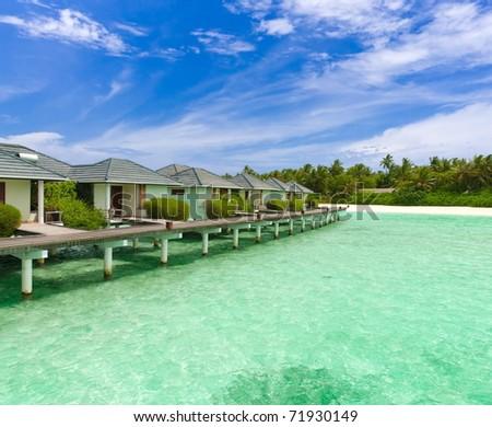 Maldives buildings in water #71930149