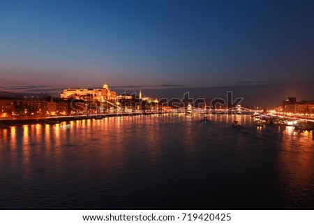 Beautiful city view after sunset at Budapest, Hungary / Budapest, Hungary #719420425