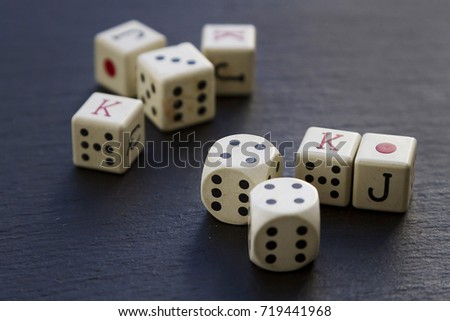 Dice pieces for poker game #719441968
