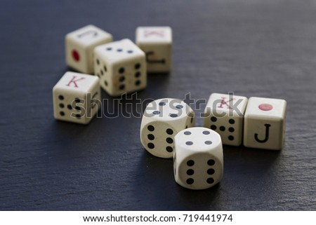 Dice pieces for poker game #719441974