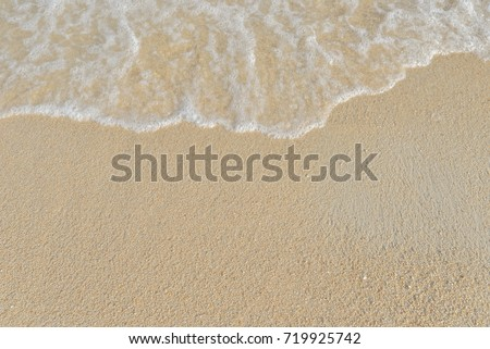 abstract sand of beach and soft wave background #719925742