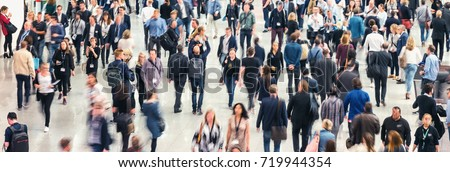 blurred Large crowd of people Royalty-Free Stock Photo #719944354