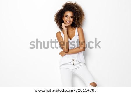 Beautiful african american female model Royalty-Free Stock Photo #720114985