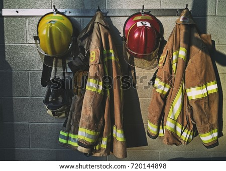 Firefighter gear Royalty-Free Stock Photo #720144898