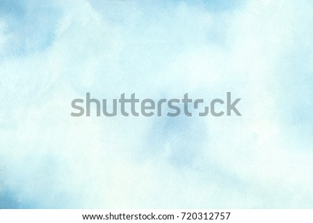 Abstract blue watercolor background in high resolution #720312757