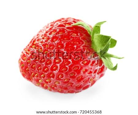 Fresh strawberry, isolated on white #720455368