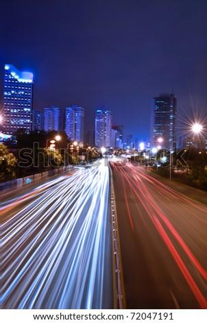 Shenzhen, China at night #72047191