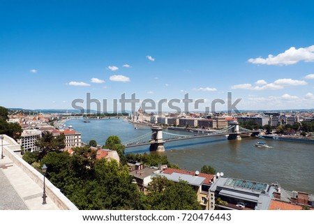 View of  River Danube in Budapest, Hungary #720476443