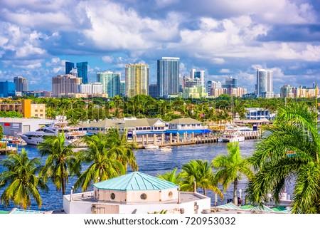 Fort Lauderdale, Florida, USA skyline. #720953032