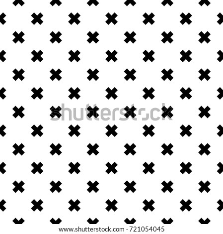 black and white fashion prints patterns made with '+' plus sign.seamless geometric monochrome cross pattern