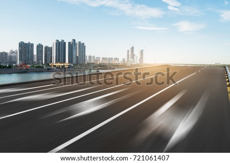 empty asphalt road and cityscape of singapore in cloud sky #721061407