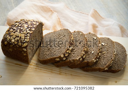rye bread with cereals #721095382