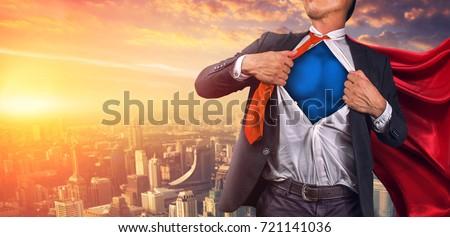 Business Superhero. Mixed media Royalty-Free Stock Photo #721141036